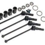 Traxxas Driveshafts, steel constant-velocity (assembled), front or rear (4) (for use with #8995 WideMaxx suspension kit) (requires #8654 series 17mm splined wheel hubs and #7758 series 17mm nuts for a complete set)