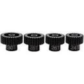 HOT RACING SSXS4680 Hardened Steel Gear Set 48P 1/8 Bore 24-30T