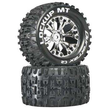 """DuraTrax Lockup MT 2.8"""" Truck 2WD Mntd Rear C2 Chrm (2)"""