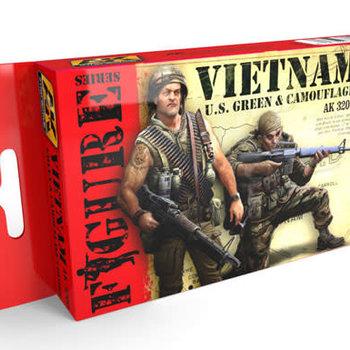 AKI Figure Series: Vietnam US Green & Camouflage s Acrylic Paint Set