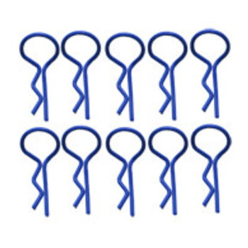 BENT MEDIUM BODY PINS BLUE (10)
