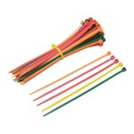 8 In. Fluorescent Cable Ties 100 Pk