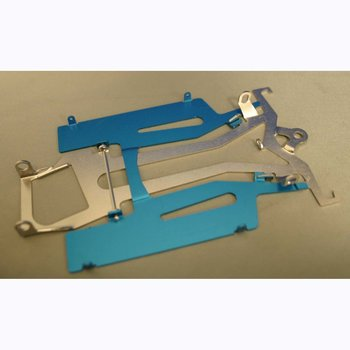 "MOSSETTI MOSSETTI 4.5"" PATRIOT DEFENDER 2 PIECE CHASSIS BLUE ALUM PANS"