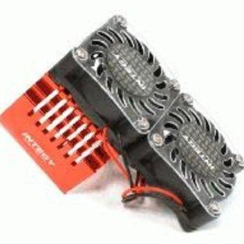 Integy Twin 40x40mm HS Cooling Fan+Heatsink Mount for 40mm O.D. Motor