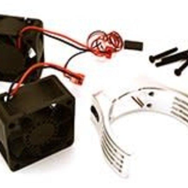 Integy Billet Machined Motor Heatsink & Cooling Fans for Losi 1/5 Desert Buggy XL-E