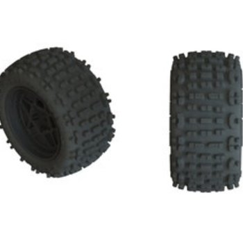 arrma AR550050 Backflip LP 4S Tire 3.8 Glued Black (2)