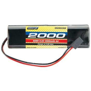 ONX NiMH 9.6V 2000mAh AA Transmitter Rect Universal