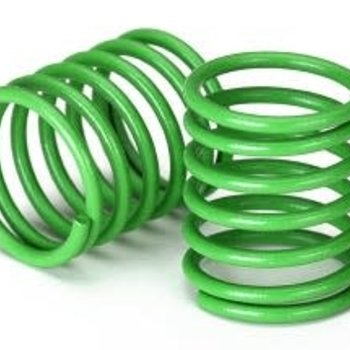 Traxxas Spring, shock (green) (3.7 rate) (2)