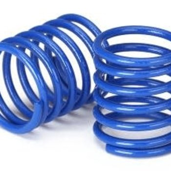 Traxxas Spring, shock (blue) (3.7 rate) (2)