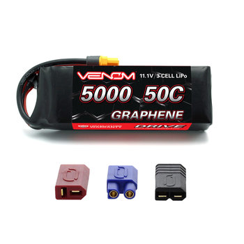 VENOM VENOM 50C 3S 5000MAH 11.1V GRAPHENE LIPO BATTERY WITH UNIVERSAL PLUG