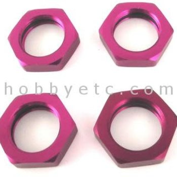 HOT RACING Purple 23mm lock nut (4)