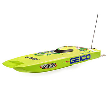 Miss GEICO Zelos 36 Twin Brushless Catamaran: RTR  (Includes Grd ship lower 48)