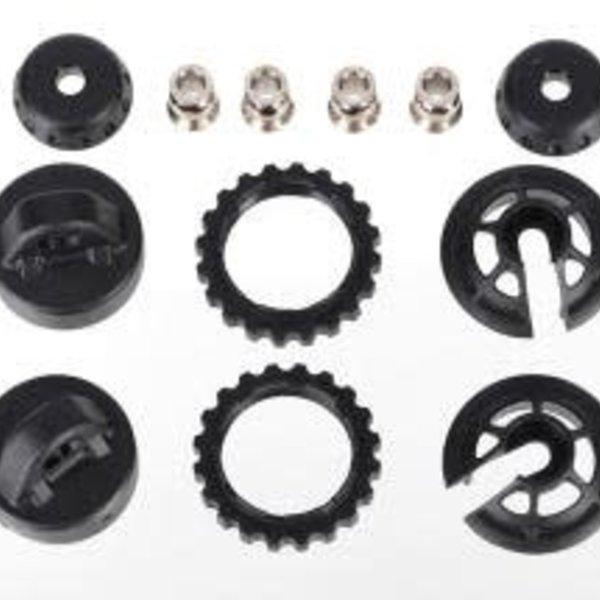 Traxxas 7468 Caps and spring retainers, GTR long/xx-long shock (upper cap (2)/ hollow balls (4)/ bottom cap (2)/ upper retainer (2)/ lower retainer (2))