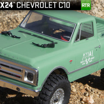 SCX24 1967 Chevrolet C10 1/24 4WD-RTR Light Green incl. lwr 48 ship.