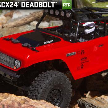 AXI SCX24 Deadbolt 1/24th Scale Elec 4WD - RTR, Red