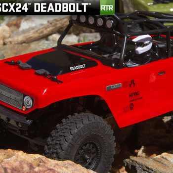 SCX24 Deadbolt 1/24th Scale Elec 4WD - RTR, Red (Ground shipping included in online price to the lower 48 states)