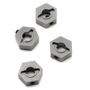 strc ALUMINUM HEX ADAPTERS FOR SLASH 4X4 (GUNMETAL)