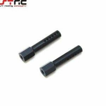 ST Racing Concepts FRONT BODY POSTS SLASH / RUSTLER (PAIR) BLACK