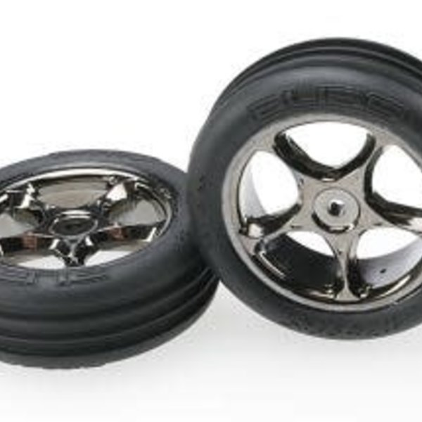 Traxxas 2471A Tires and Wheels Assembled Ribbed (2)