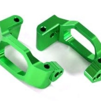 Traxxas Caster blocks (c-hubs), 6061-T6 aluminum (green-anodized), left & right/ 4x22mm pin (4)/ 3x6mm BCS (4)/ retainers (4)