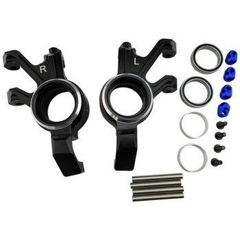 HOT RACING XMX2101 Aluminum Steering Knuckle Black X-Maxx