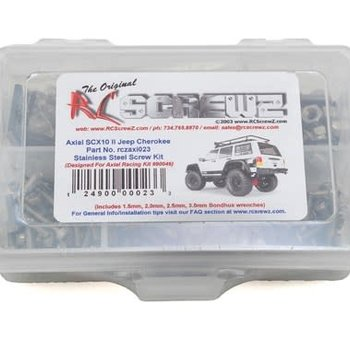 AXI023 Stainless Screw Kit SCX10 II Jeep Cherokee