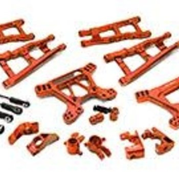 Integy Billet Machined Alloy Suspension Kit for Traxxas 1/10 Rustler 4X4