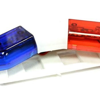 Integy Police Car Roof Top Flashing LED Light Bar Kit for 1/10 Scale