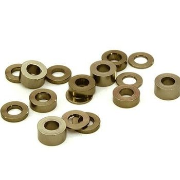 Integy Billet Machined 16pcs Aluminum M3x6 Washer Spacer (0.5, 1.0, 2.0, 3.0mm)
