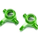 Traxxas Steering blocks, 6061-T6 aluminum (green-anodized), left & right