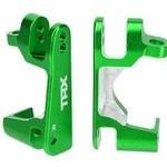 Traxxas Caster blocks (c-hubs), 6061-T6 aluminum (green-anodized), left & right