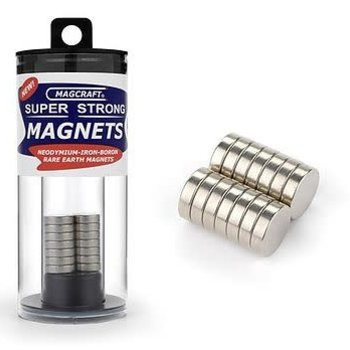 MAGCRAFT 1/2''x1/8'' Rare Earth Disc Magnets (14)