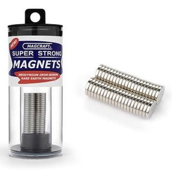 MAGCRAFT 3/8''x1/16'' Rare Earth Disc Magnets (40)