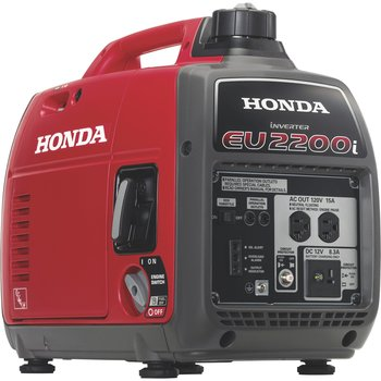 HONDA Honda Generator Honda EU2200i Portable Inverter Generator — 2200 Surge Watts, 1800 Rated Watts, CARB-Compliant, Model# EU2200iTA 2,200 surge watts, 1,800 rated watts, 120 Volts Inverter technology provides clean, stable power for safely running sensitive