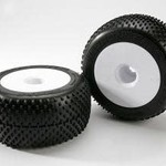 Traxxas 5375R TIRES & WHLS ASM GLUED(2