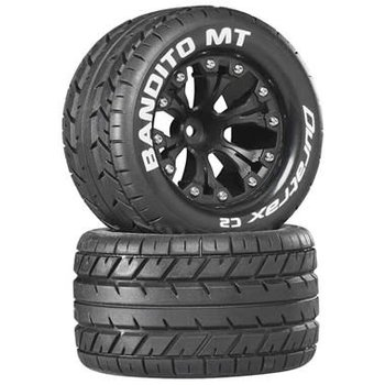 "DuraTrax Bandito MT 2.8"" Truck Mntd 1/2"" Offset C2 Blk (2)"