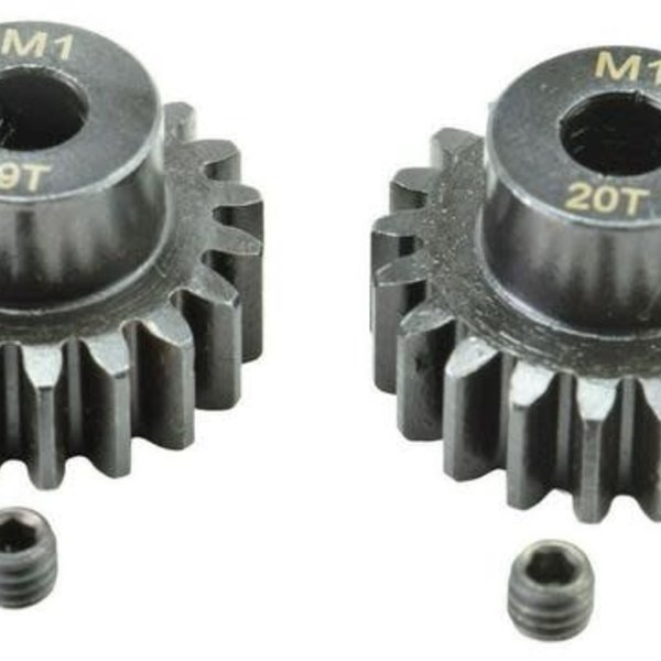APEX Apex RC Products 19 & 20T Mod 1 M1 5mm 1/8 Scale Pinion Gear Set