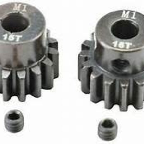 APEX APEX RC PRODUCTS 15 & 16T MOD 1 M1 5MM 1/8 SCALE PINION GEAR SET
