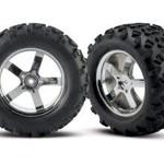 Traxxas 4973R Tires/Wheels T-Maxx 3.3 (2)
