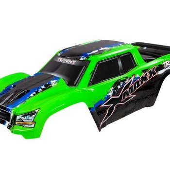 Traxxas Body, X-Maxx®, green (painted, decals applied)(Inc GRD ship lower 48)