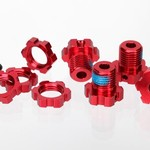 Traxxas 5353R Wheel Hubs Splined 17mm Red-Anodized (4)