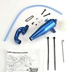 Traxxas 4486 ALUMINUM TUNED PIPE/HEADR