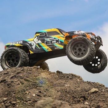 ECX 1/10 2wd Ruckus MT: Black/Yellow requires battery and charger
