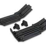 Traxxas 7744 Skidplate, front (1), rear (1)/ rubber impact cushion (2)