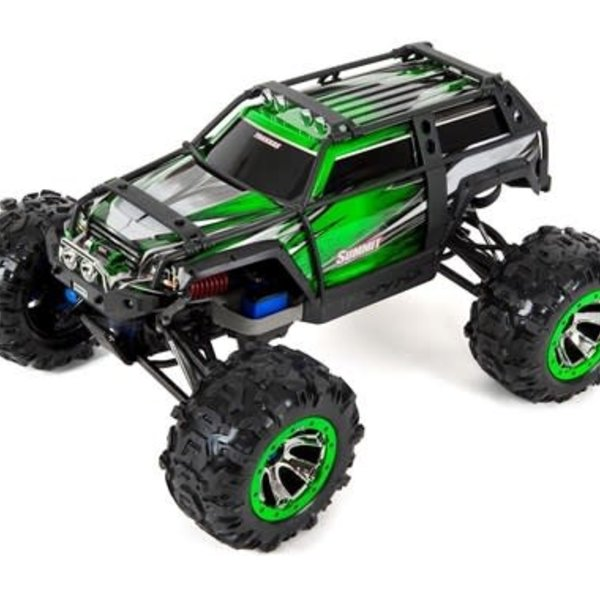 Traxxas tra560076-4-GRN This is the new Orange Ready to Run, 1/10 Scale Summit Extreme Terrain Monster Truck w/ LED Light set from Traxxas.