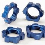 Traxxas 5353 Whl Nuts Splined 17mm Blue-Andzd (4)
