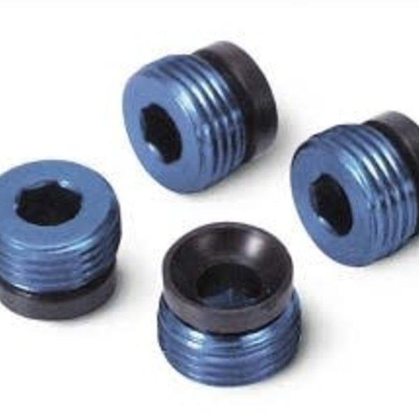 Traxxas 4934X Aluminum Caps Pivot Balls Blue T-Maxx (4)