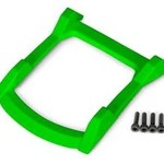 Traxxas 6728G - Skid plate, roof (body) (green)/ 3x12 CS (4)