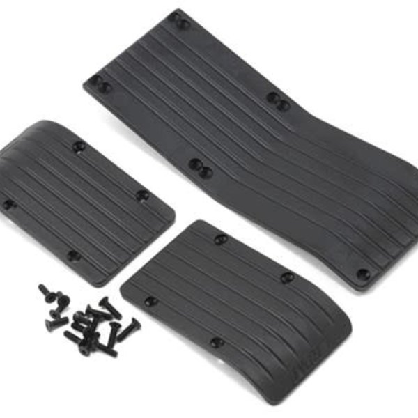 RPM 80772 Skid Plate Set T-Maxx/E-Maxx Black (3)