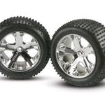Traxxas 3770 ASM ALL-STAR WH/ALIAS TIRE RR